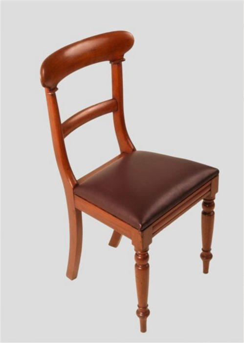 Good Set of Four William IV Mahogany Campaign Chairs