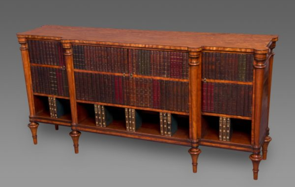 Fine Sheraton Period Satinwood Low Breakfront Cabinet
