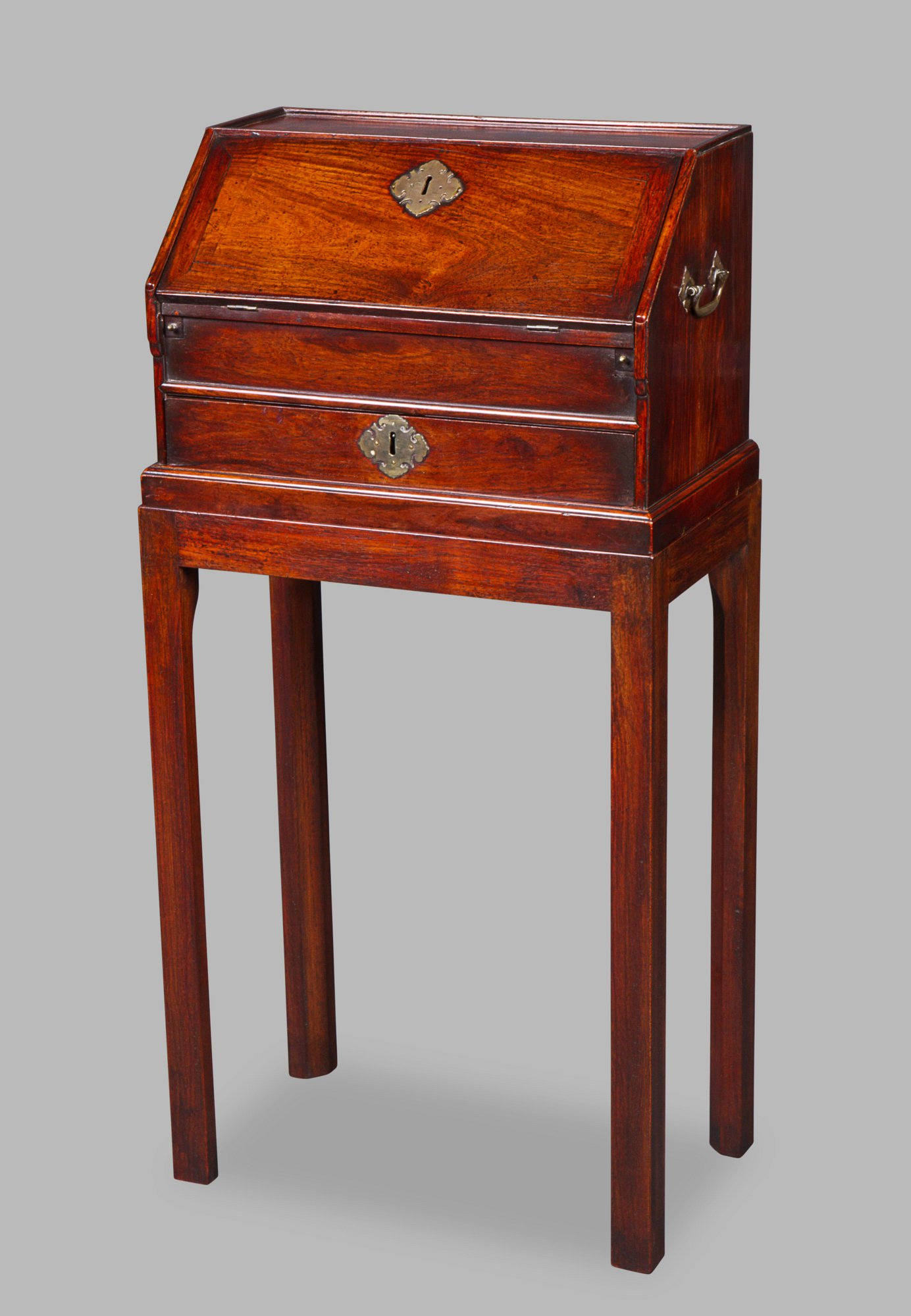 Chinese Export Padouk Table Bureau Michael Pashby Antiques