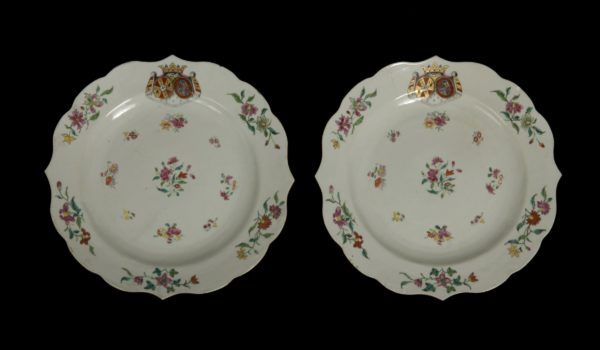 Set Chinese Export Spanish Armorial Dishes