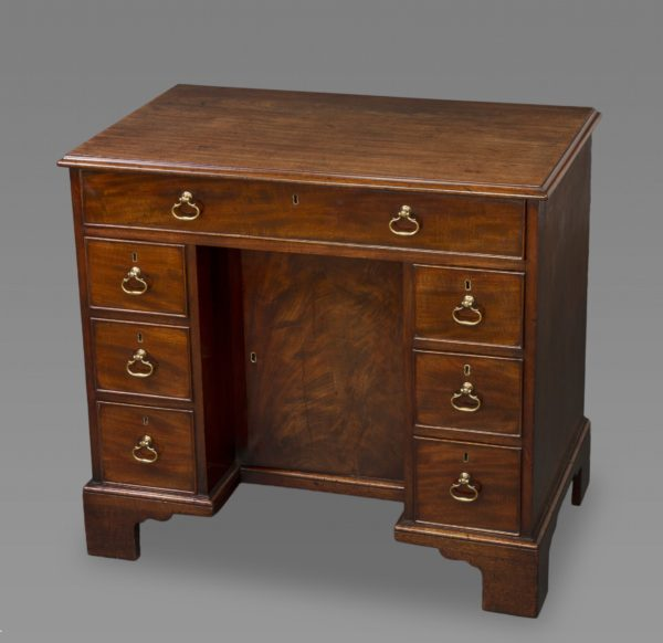 George III Mahogany Kneehole Desk of Exceptional Quality