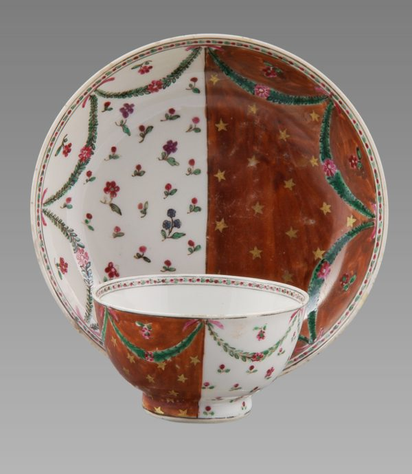 Very Rare Chinese Export Bowl and Saucer for the Portuguese Market