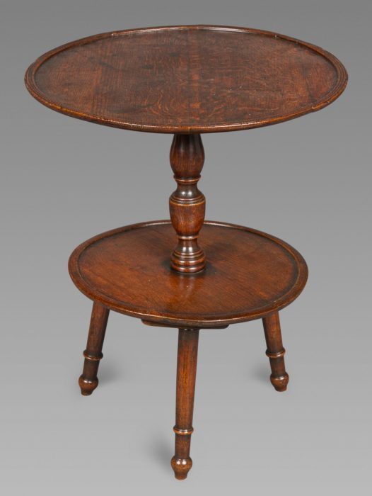 Interesting Georgian Oak Dumb-waiter or Cricket Table