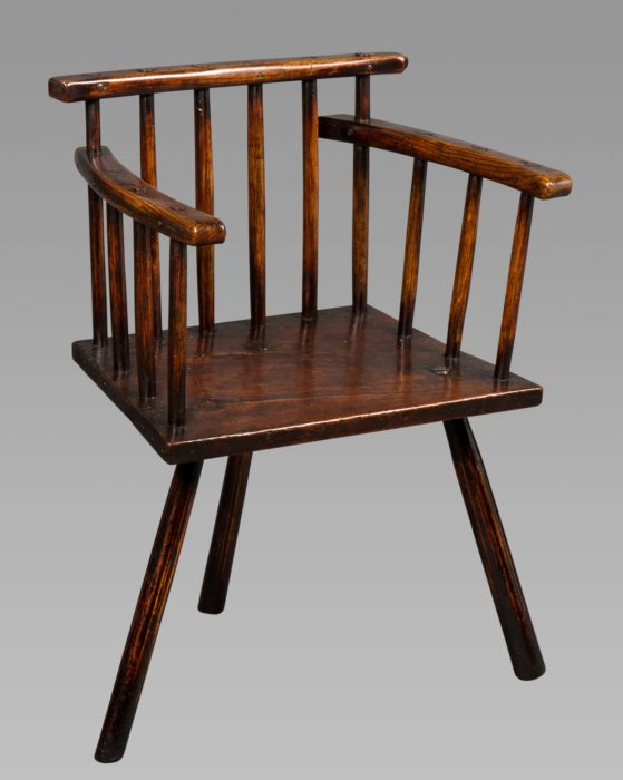 Good George III Welsh Primitive Comb-Back Chair
