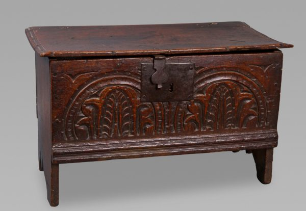 A Good Charles I Miniature Oak Chest