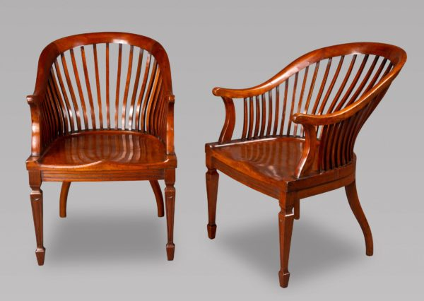 A Good Pair of Walnut Club Chairs