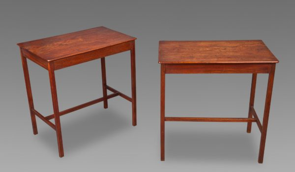 A Fine Pair of Late 18th Century George III Mahogany Tables