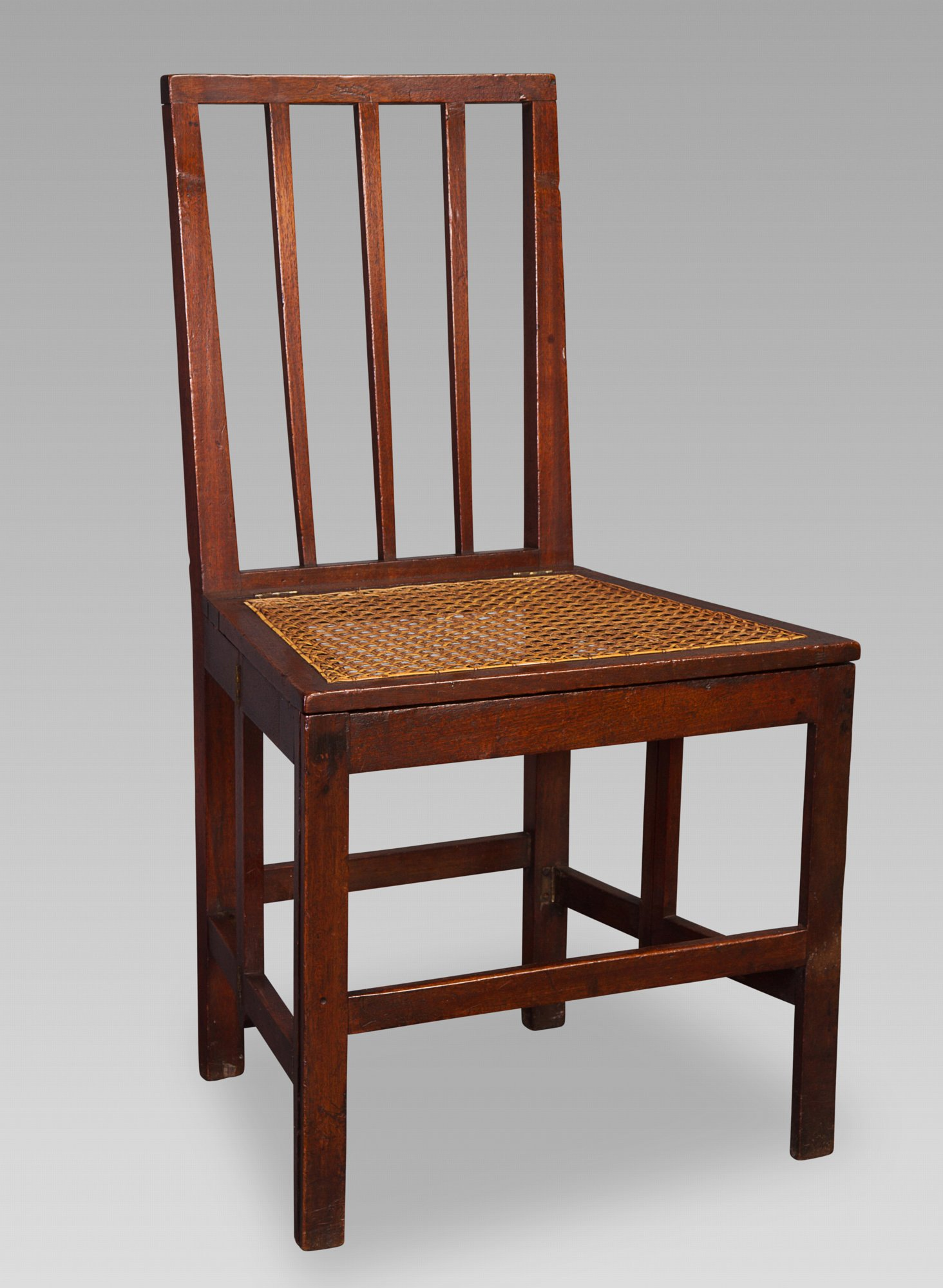 18th Century Mahogany Naval Campaign Chair 327_3 327_2