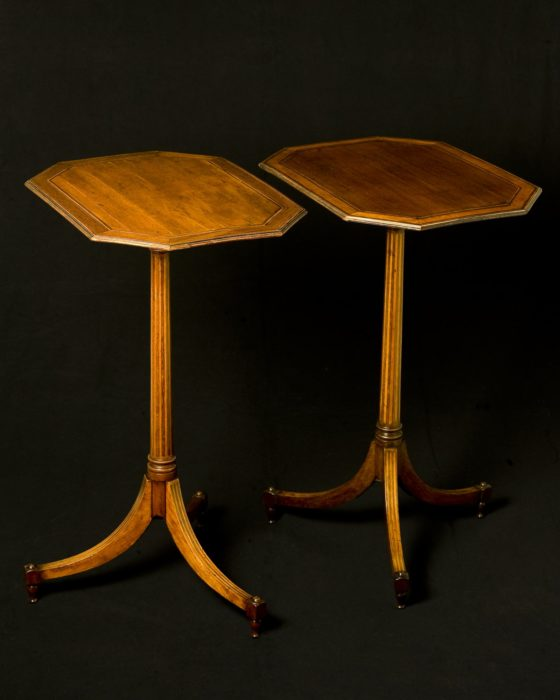 Gillows:A Fine and Rare Pair of George III Mirror Image Side Tables