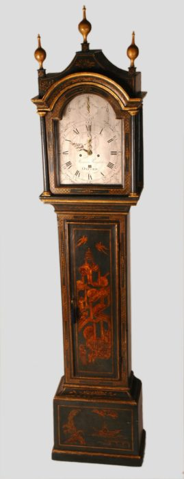 A George III Blue Japanned Tall Case Clock by Thomas Reynolds