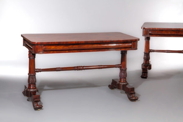 A Good Pair of George IV Writing or Console Tables in the Style of Gillows