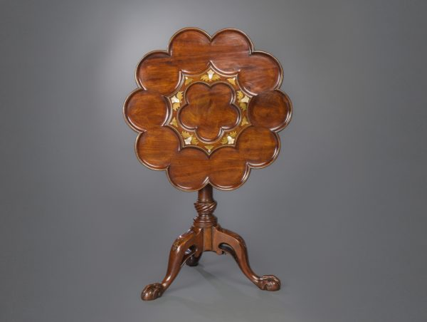 Frederick Hintz Brass Inlaid Table