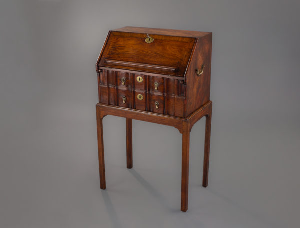 Fine Early Chinese Export Small Padouk Table Bureau