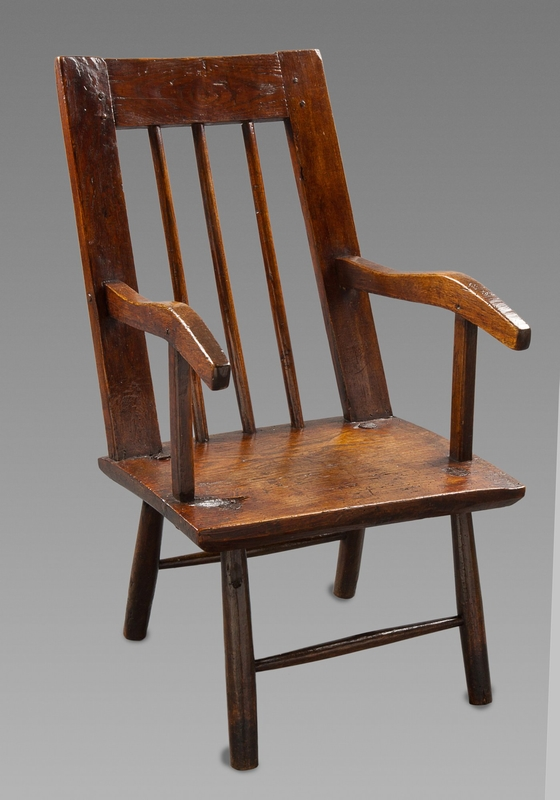 Late 18th Century Primitive Ash Armchair
