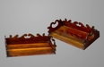A Fine and Rare Pair of Specimen Wood Book Trays Attributed to Gillows