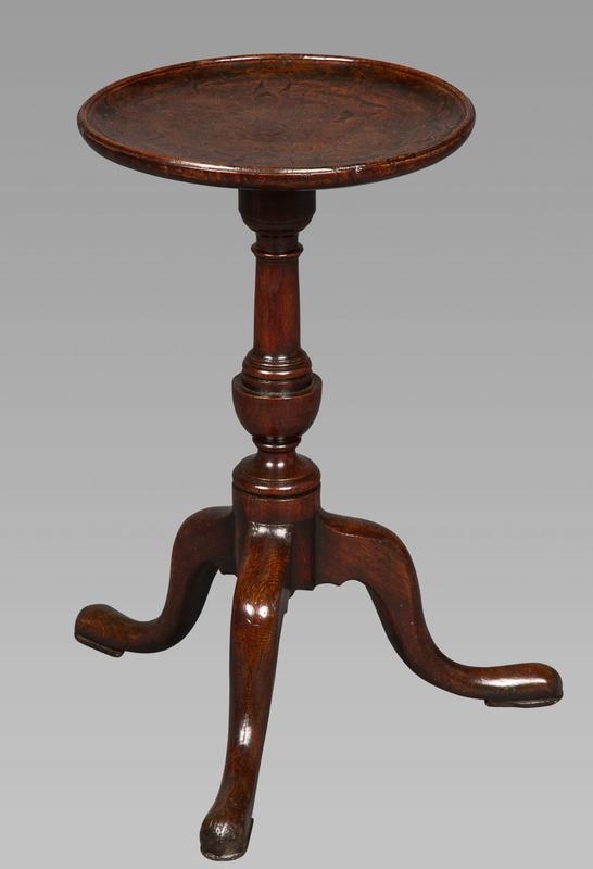 Small George III Burr-Oak Tripod Kettle Stand