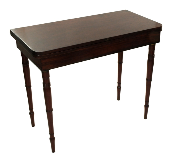George III Mahogany Campaign Fold-Over Table