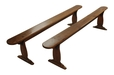 A Good Pair of Mid 18th Century English Elm Trestle Benches