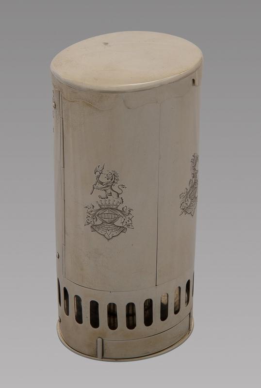 A Fine and Rare Silver Travel Lamp. London 1864