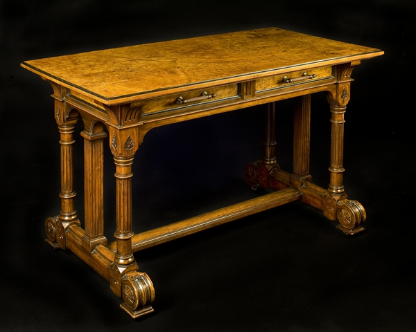 Gillows: A Very Fine Aesthetic Period Library Center Table