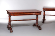 A Good Pair of George IV / William IV Writing or Console Tables in the Style of Gillows