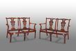 An Impressive and Highly Attractive Pair of Walnut Double Chair-Back Settees
