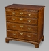 An Attractive George I Burl-Elm Bachelor's Chest