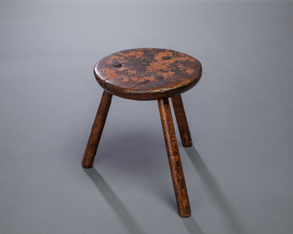Red Painted Stool