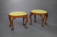 A Fine and Rare Pair of George II Walnut Stools