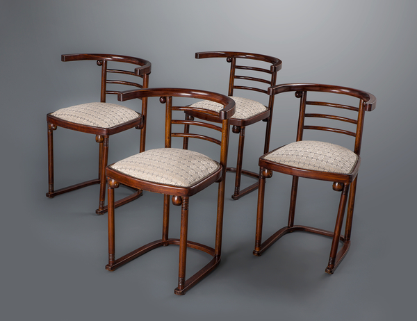 "A Set of Four Joseph Hoffmann ""Die Fledermaus"" Chairs by Mundus"