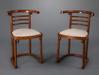 """A Pair of Joseph Hoffmann """"Die Fledermaus"""" Chairs"""