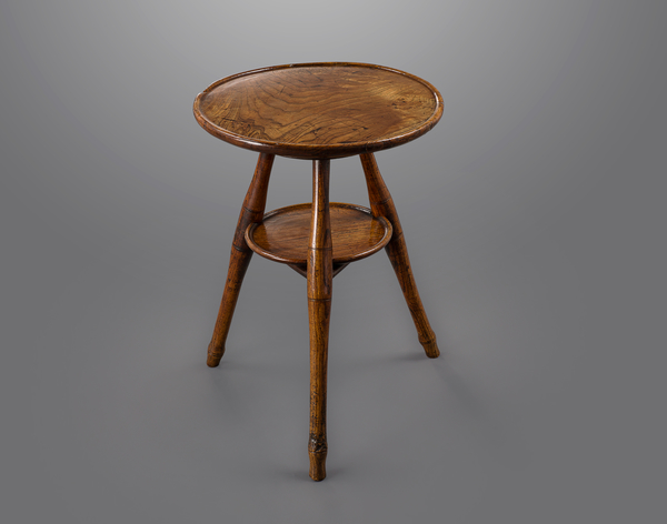 Fine Solid Elm English Tripod Cricket Table