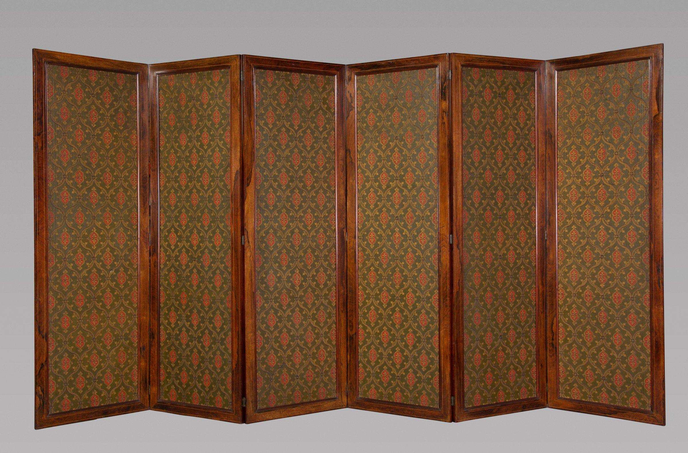 Fine Gothic Revival Six Panel Screen After A W N Pugin Michael  # Augustus Pugin Muebles