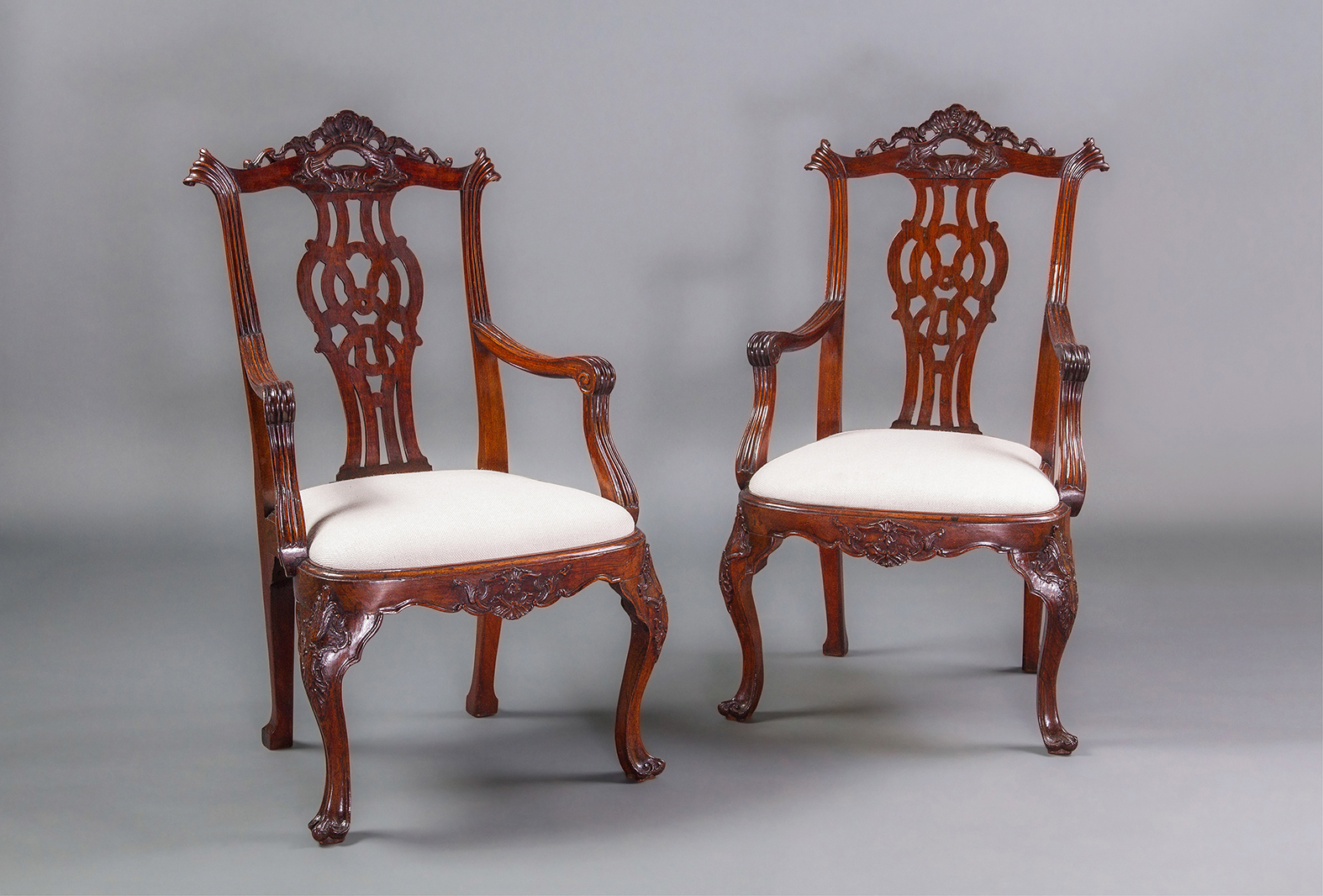 A Very Good Pair Of Mid 18th Century Portuguese Armchairs In The